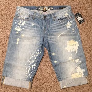 NEW Lucky Brand Riley cut-off crop jeans sz 12 (31